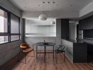 墨色之家 文儀室內裝修設計有限公司 现代客厅設計點子、靈感 & 圖片 Black