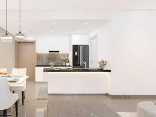 Dự án thiết kế nội thất chung cư Công ty nội thất ATZ LUXURY Phòng ăn phong cách hiện đại