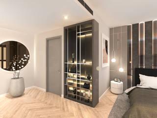 Magnolias Waterfront Residences@ Icon Siam Modernize Design + Turnkey ห้องนอน Grey