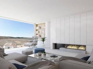 Vivienda Unifamiliar GR_CALI_001 Criz Arquitectura Salones de estilo moderno