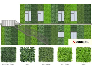 Case Study of Artificial Green Wall от Sunwing Industries Ltd Азиатский