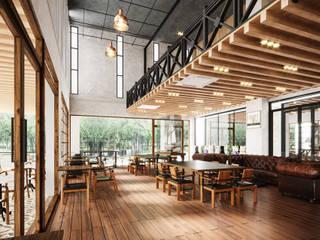 Modernize Design + Turnkey Ruang Makan Modern Wood effect