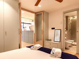 Industrial style bedroom by Pia Estudi Industrial