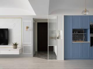 知域設計 Eclectic style living room Blue