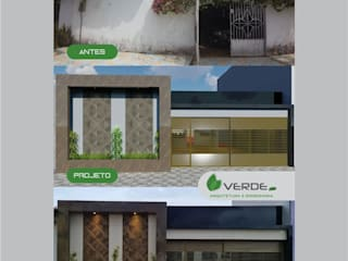 Reforma Fachada Dona Marivanda Garagens e edículas modernas por Verde Arquitetura e Engenharia Moderno