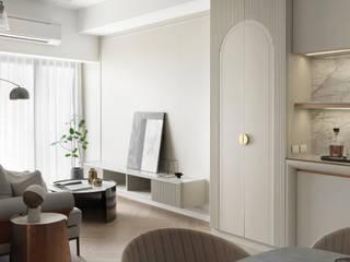 知域設計 Scandinavian style living room Brown