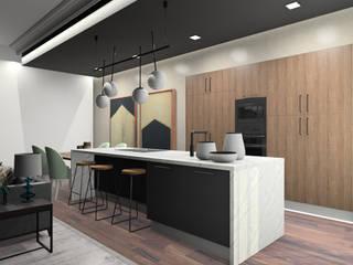 Kyoto model kitchen, in synchronized pore / Cozinha modelo Kyoto, em poro sincronizado por Movimar
