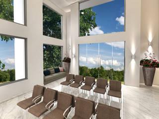 Design Essentials Moderne Arbeitszimmer Marmor Grau
