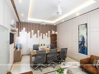 Design Essentials Moderne Arbeitszimmer Sperrholz Braun