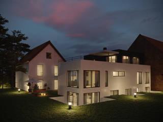 Ökologisches Zweifamilienhaus Peter Stasek Architects - Corporate Architecture Mehrfamilienhaus Holzwerkstoff Weiß