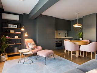 Traço Magenta - Design de Interiores Modern Oturma Odası Pembe