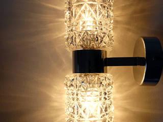 Nordic und Midcentury Designs Maisondora Vintage Living BadezimmerBeleuchtungen Glas Transparent