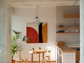 Studio Plus Minus Cucina attrezzata Legno Bianco