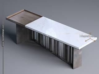 Mezzettidesign Living roomSide tables & trays Iron/Steel White