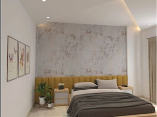 3 BHK at Puri Anand Villas, Faridabad Lakkad Works Eclectic style bedroom