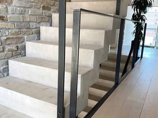 Brigitte Hofmann Architektin Stairs Concrete Grey