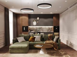 Студия архитектуры и дизайна Дарьи Ельниковой Cocinas minimalistas