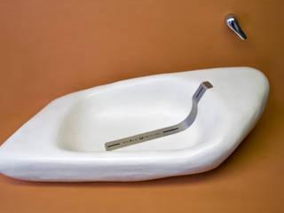 Design Waschbecken - Patent zum Verkauf Heinrich-Wohnraumveredelung , Inhaber Ph. Lakomczyk Moderne Badezimmer Plastik Weiß