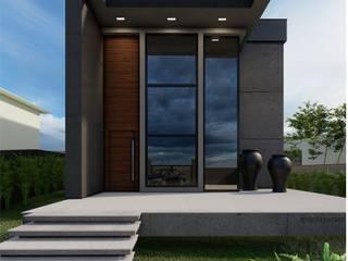 Residência Unifamiliar Contemporânea Casas modernas por Della&Pucker - Eng. Civil e Arquitetura Moderno