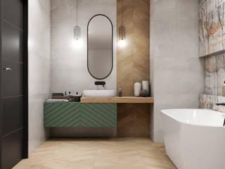 Casas de banho ecléticas por Domni.pl - Portal & Sklep Eclético
