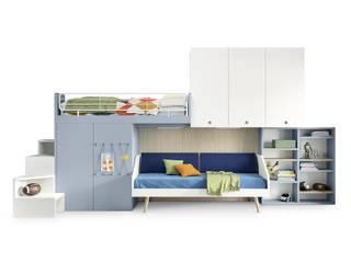 L&M design di Marelli Cinzia Small bedroom Інженерне дерево Бірюза