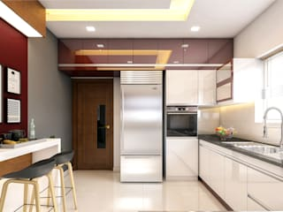 Monnaie Interiors Pvt Ltd KitchenLighting Wood Wood effect