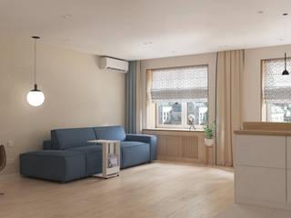 3-х комнатная квартира ЖК «На Казанской» Гостиная в стиле модерн от ARTWAY центр профессиональных дизайнеров и строителей Модерн