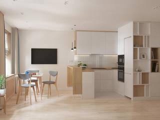 3-х комнатная квартира ЖК «На Казанской» Кухня в стиле модерн от ARTWAY центр профессиональных дизайнеров и строителей Модерн