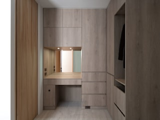 禾光室內裝修設計 ─ Her Guang Design Industrial style dressing room Wood effect