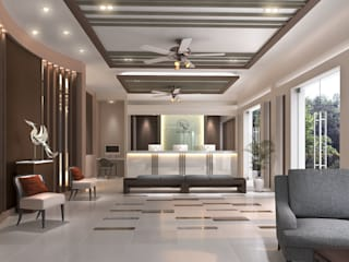 Swanlake Hotel Modernize Design + Turnkey ห้องนั่งเล่น กระเบื้อง Grey