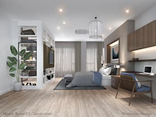Modernize Design + Turnkey Kamar Tidur Modern Kayu Grey
