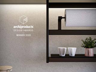 Damiano Latini srl Cocinas de estilo moderno Aluminio/Cinc Negro