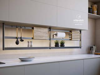 Damiano Latini srl Cocinas de estilo moderno Aluminio/Cinc