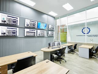 Charoenchai Lab Control Modernize Design + Turnkey ห้องทำงาน/อ่านหนังสือ ไม้ Grey