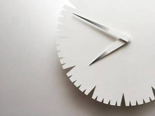 NOTCH CLOCK Shinobu Koizumi Design Office 家庭用品家庭用品 紙 白色