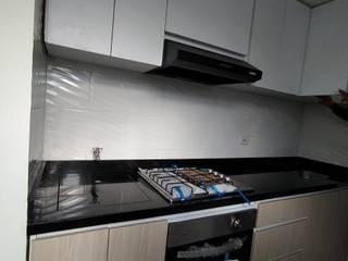 REMODELACION COCINA MADELENA (BOGOTÁ) Plano 13 Cocinas pequeñas Aglomerado Blanco