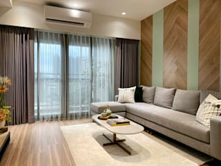 MSBT 幔室布緹 Country style living room Engineered Wood Brown