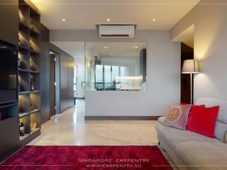 Singapore Carpentry Interior Design Pte Ltd 现代客厅設計點子、靈感 & 圖片 大理石 White