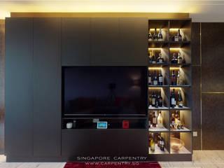 Singapore Carpentry Interior Design Pte Ltd 现代客厅設計點子、靈感 & 圖片 木頭 Brown