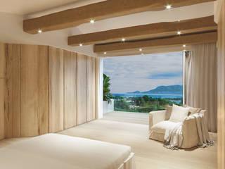 Architetto Alessandro spano Mediterranean style bedroom Wood