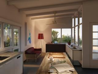 3D RenderLife Ruang Makan Minimalis White