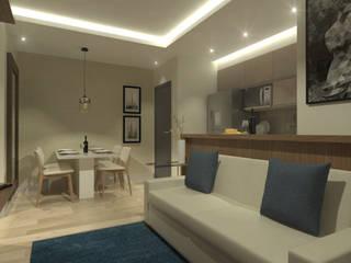 Salas de estar modernas por Daniela Hescheles Arquitetura Moderno