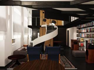 ibedi laboratorio di architettura Comedores de estilo moderno Plata/Oro Ámbar/Dorado