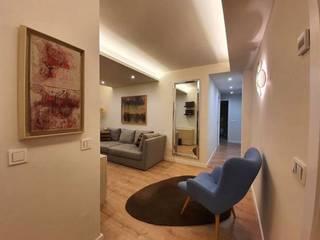 GRUPO CECATHER | FOLIO RADIANTE - SUELO RADIANTE Salas de estilo moderno Acabado en madera