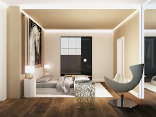 Interior Design Stefano Bergami Modern style bedroom
