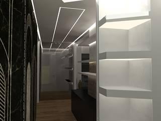 bianco e nero Interior Design Stefano Bergami Ingresso, Corridoio & Scale in stile moderno
