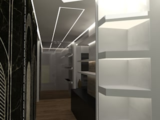 Interior Design Stefano Bergami ห้องโถงทางเดินและบันไดสมัยใหม่