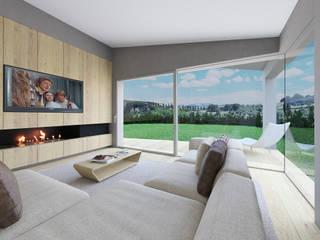 Nuova abitazione monofamiliare tuttaunaltracasa Soggiorno moderno