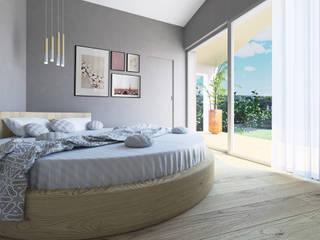Nuova abitazione monofamiliare tuttaunaltracasa Camera da letto moderna Legno