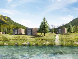 Moduli abitativi per Eco Turismo tuttaunaltracasa Hotel moderni Legno